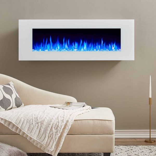 DiNatale Wall-Mounted Electric Fireplace in White by Real Flame 1