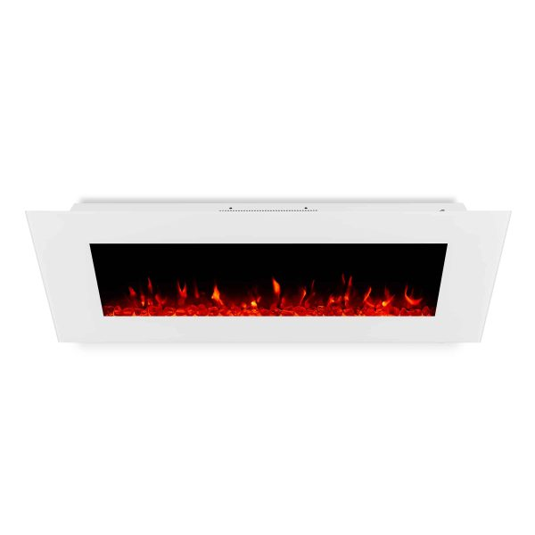 DiNatale Wall-Mounted Electric Fireplace in White by Real Flame 3