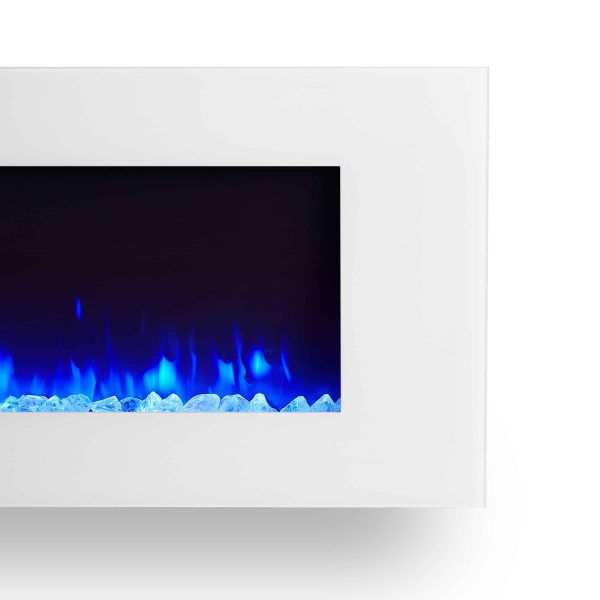 DiNatale Wall-Mounted Electric Fireplace in White by Real Flame 4