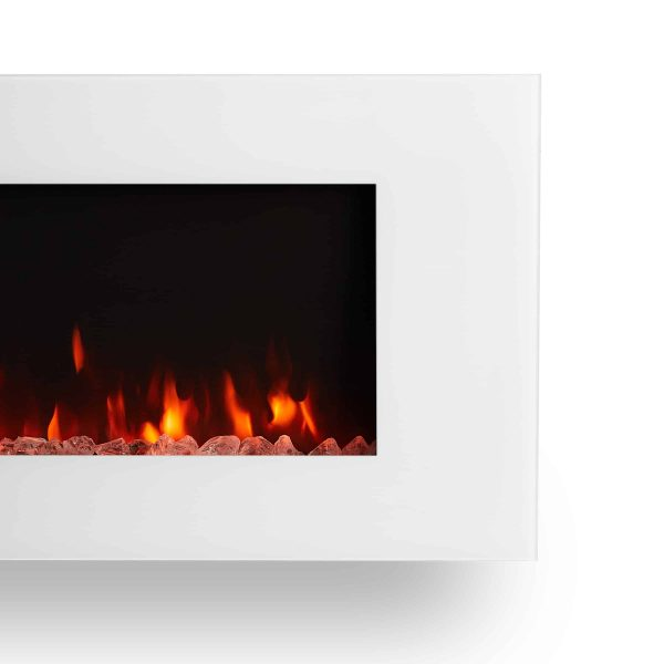 DiNatale Wall-Mounted Electric Fireplace in White by Real Flame 5