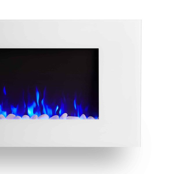 DiNatale Wall-Mounted Electric Fireplace in White by Real Flame 6