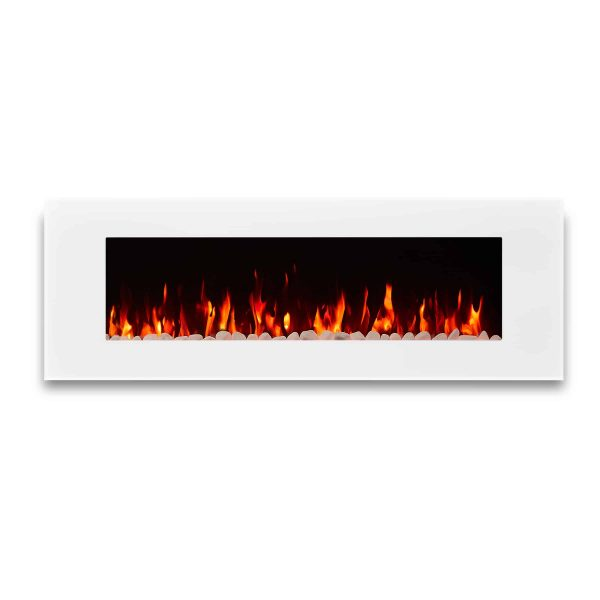 DiNatale Wall-Mounted Electric Fireplace in White by Real Flame 7