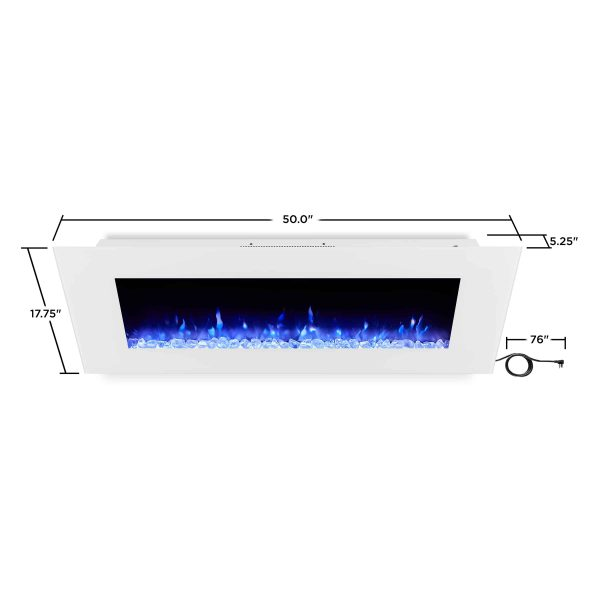 DiNatale Wall-Mounted Electric Fireplace in White by Real Flame 9