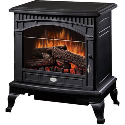 "Dimplex 25"" Traditional Electric Stove with Bevelled Glass Detailing"