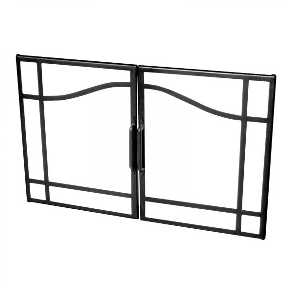 Dimplex 39 in. Swing Glass Door with Black Accents