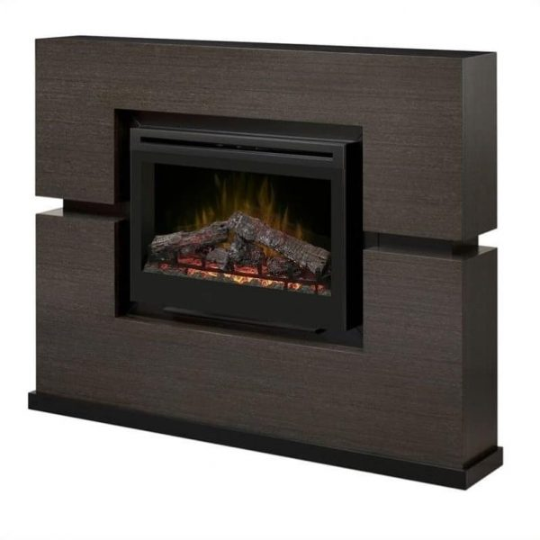 Dimplex Linwood Mantel Electric Fireplace With Logs