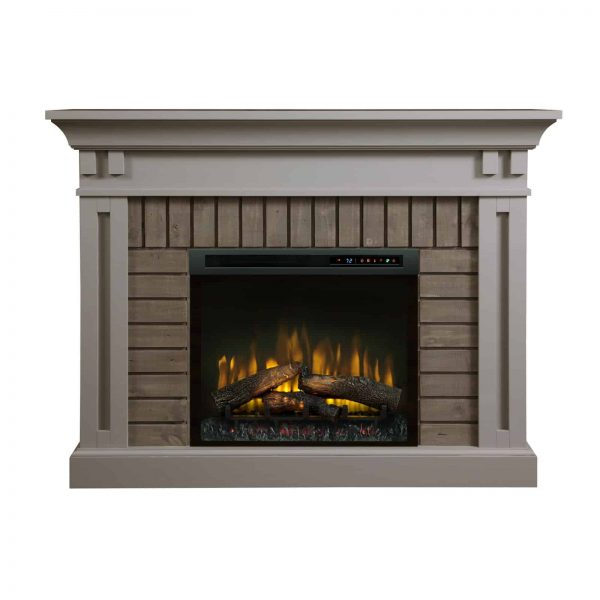 Dimplex Madison Electric Fireplace Mantel With Glass Ember Bed 1