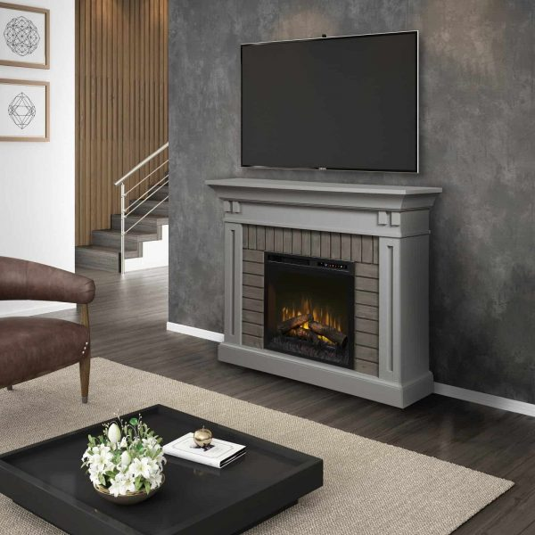 Dimplex Madison Electric Fireplace Mantel With Glass Ember Bed 2