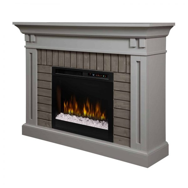Dimplex Madison Electric Fireplace Mantel With Glass Ember Bed 3