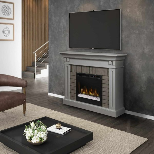 Dimplex Madison Electric Fireplace Mantel With Glass Ember Bed 4