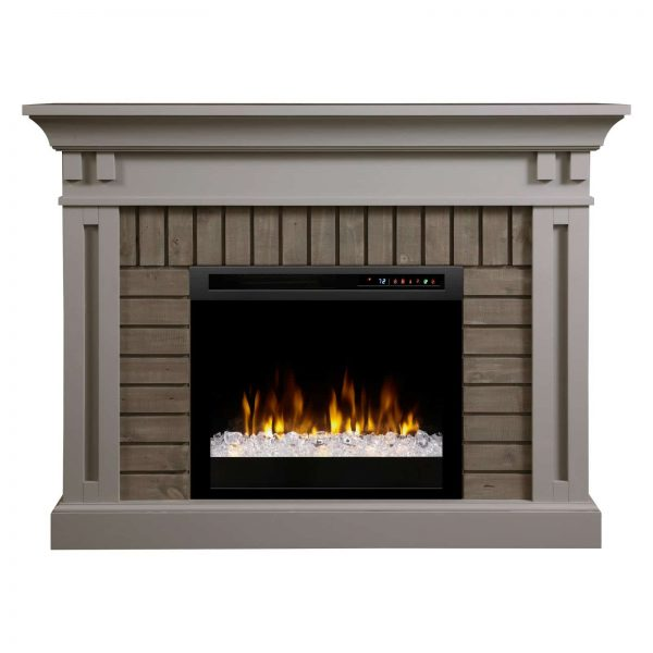 Dimplex Madison Electric Fireplace Mantel With Glass Ember Bed 5