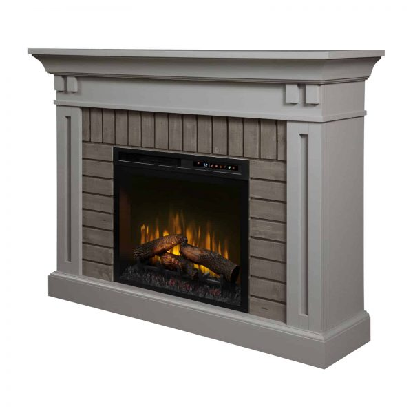 Dimplex Madison Electric Fireplace Mantel With Glass Ember Bed 6