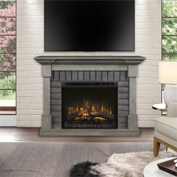 Dimplex Royce Electric Fireplace Mantel with Logs Bed 1