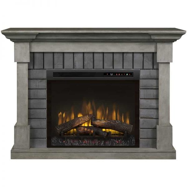 Dimplex Royce Electric Fireplace Mantel with Logs Bed 2
