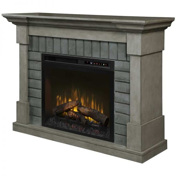 Dimplex Royce Electric Fireplace Mantel with Logs Bed