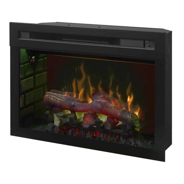 Dimplex Upton Mantel Electric Log Fireplace Cabinet, Espresso 1