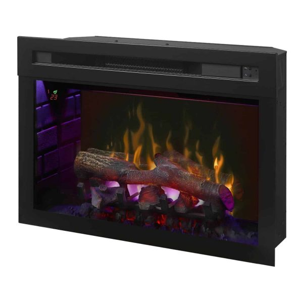 Dimplex Upton Mantel Electric Log Fireplace Cabinet, Espresso 2