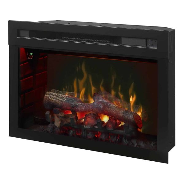 Dimplex Upton Mantel Electric Log Fireplace Cabinet, Espresso 3