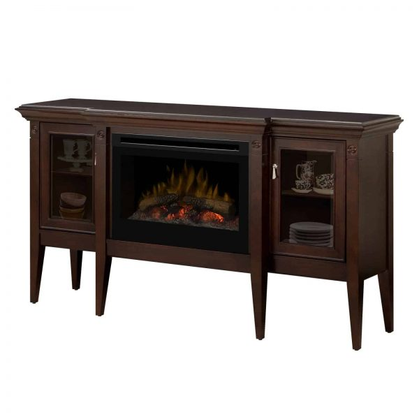 Dimplex Upton Mantel Electric Log Fireplace Cabinet