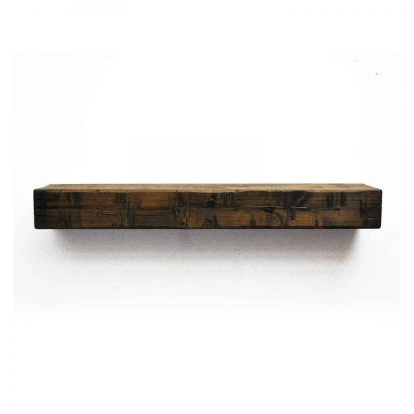 Dogberry Collections Rustic Fireplace Mantel Shelf 2