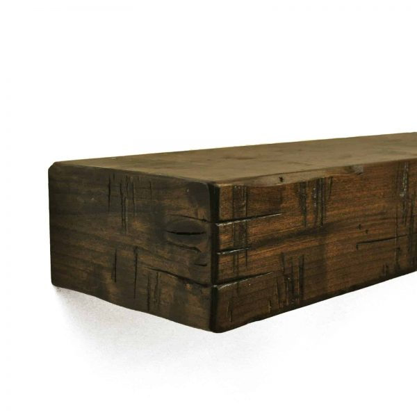 Dogberry Collections Rustic Fireplace Mantel Shelf 3