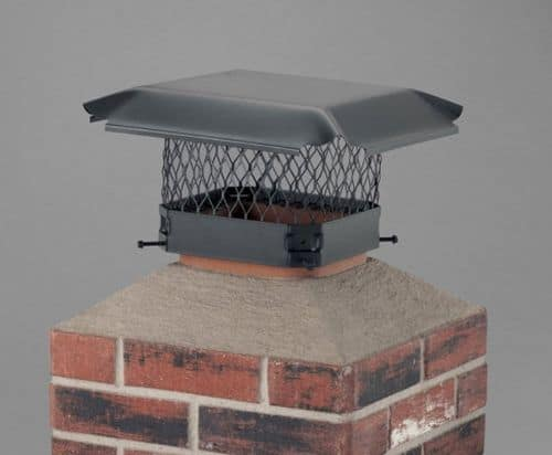 "Draft King Single Flue Black-Painted Galvanized Steel - 9"" x 9"" Cover"