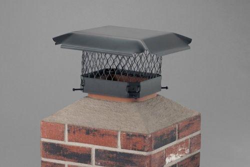 Draft King Single Flue Stainless Steel 11 Inch x 11 Chim. Cover -Black