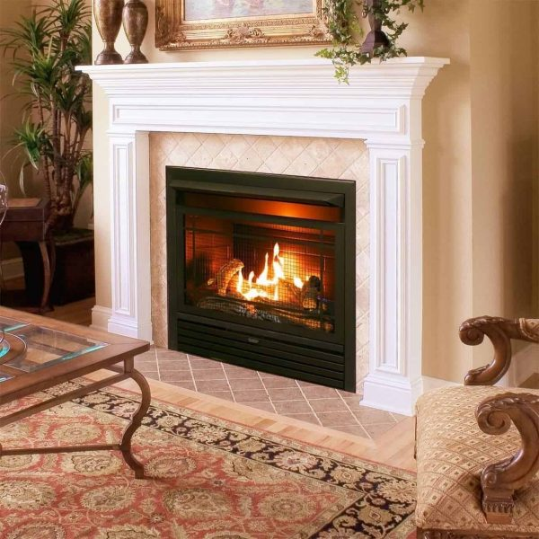 Duluth Forge Dual Fuel Ventless Fireplace Insert - 26,000 BTU, T-Stat Control 2