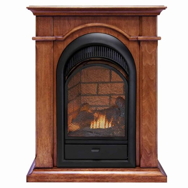 Duluth Forge Dual Fuel Ventless Fireplace With Mantel - 15