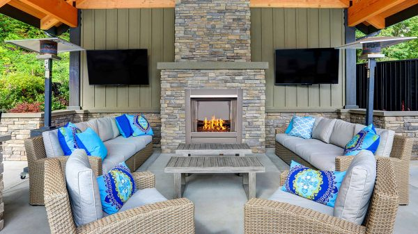 Duluth Forge Vent-Free Stainless Outdoor Gas Fireplace Insert With Copper Fire Glass Media - 24,000 BTU - Model# DF450SS-G-RCO 2