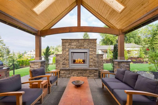 Duluth Forge Vent-Free Stainless Outdoor Gas Fireplace Insert With Copper Fire Glass Media - 24,000 BTU - Model# DF450SS-G-RCO 4
