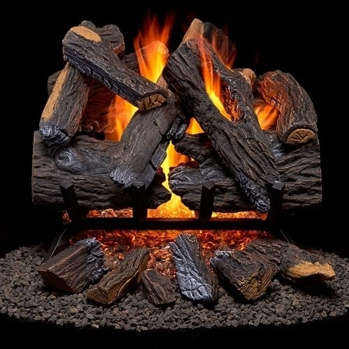 Duluth Forge Vented Natural Gas Fireplace Log Set 1
