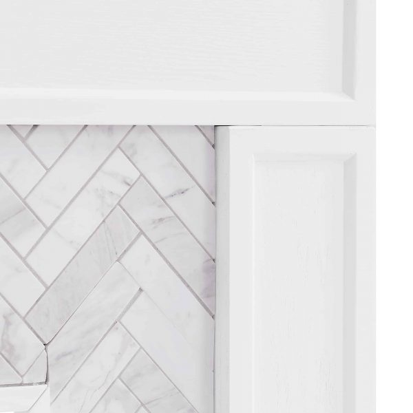 Dunlin Marble Tiled Electric Fireplace by Ember Interiors 6