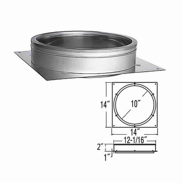 """DuraVent 10DT-AP Galvanized 10"""" Inner Diameter 1"""