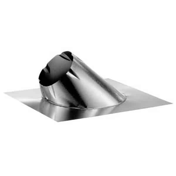 """DuraVent 10DT-F6 Stainless Steel 10"""" Class A Chimney Pipe Adjustable Roof Flashing For"""