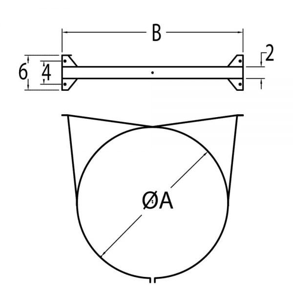 "DuraVent 10DT-WS Galvanized 10"" Inner Diameter 1"