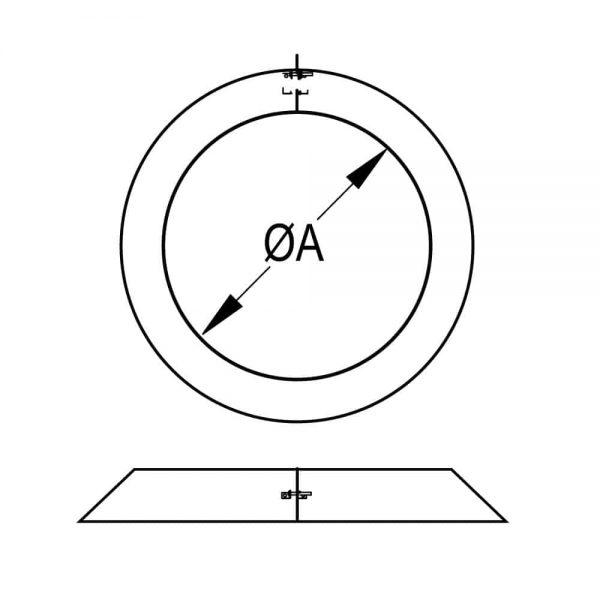 """DuraVent 12DCA-SC Galvanized Steel 12"""" Inner Diameter 1"""