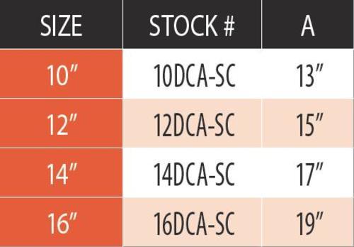 """DuraVent 12DCA-SC Galvanized Steel 12"""" Inner Diameter 2"""
