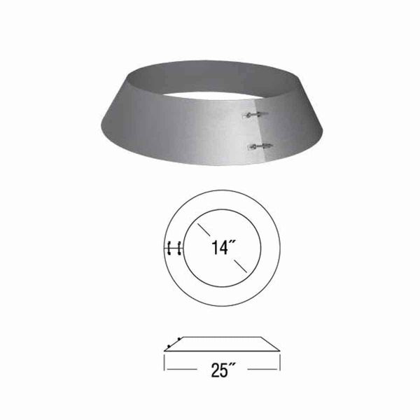 """DuraVent 12DT-SC 12"""" Inner Diameter - DuraTech Class A Chimney Pipe - Double Wall - Storm Collar 1"""