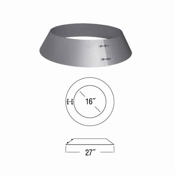 """DuraVent 14DT-SC Galvanized 14"""" Inner Diameter 1"""