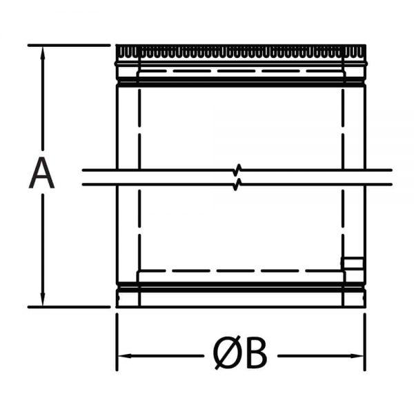 """DuraVent 16DCA-18 Galvanized Steel 16"""" Inner Diameter 1"""