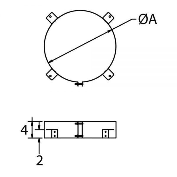 "DuraVent 16DCA-ST Galvanized Steel 16"" Inner Diameter 2"