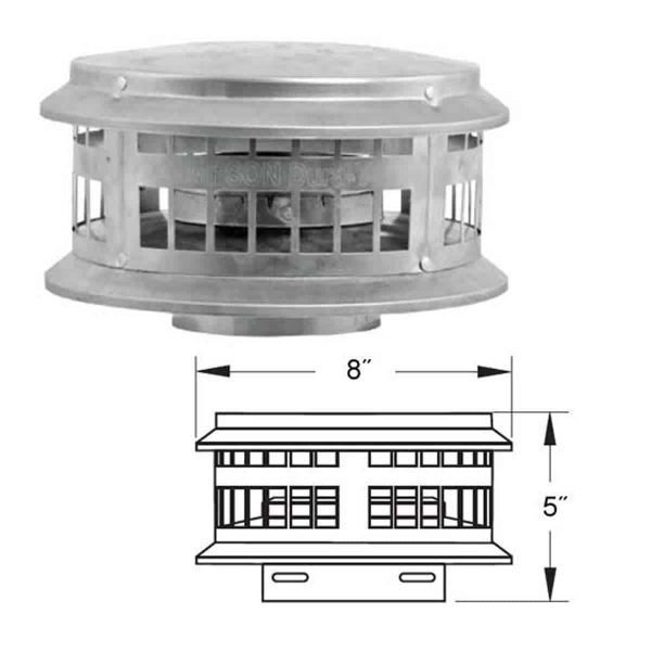 """DuraVent 3DFA-VC Aluminum 3"""" Inner Diameter 1"""