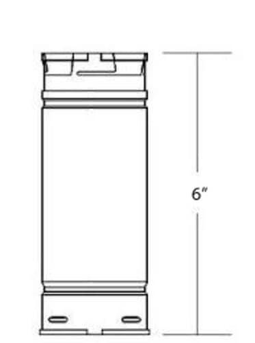 """DuraVent 3PVP-06 Stainless Steel 3"""" Inner Diameter 1"""