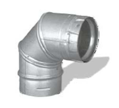 """DuraVent 3PVP-E90 Stainless Steel 3"""" Inner Diameter"""