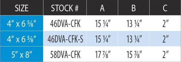 "DuraVent 46DVA-CFK Galvanized 4"" X 6-5/8"" Diameter Directvent Pro Direct Vent Pipe 2"