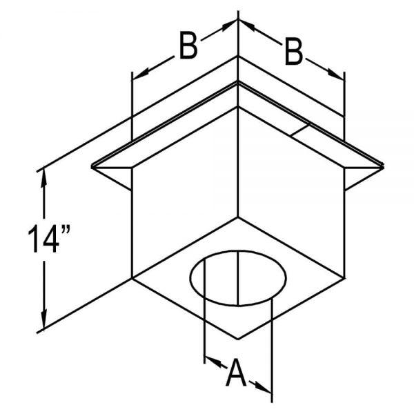 "DuraVent 46DVA-CS Galvanized 4"" X 6-5/8"" Inner Diameter 1"