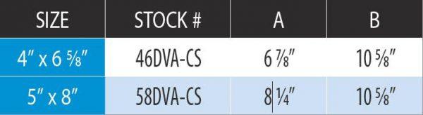 "DuraVent 46DVA-CS Galvanized 4"" X 6-5/8"" Inner Diameter 3"
