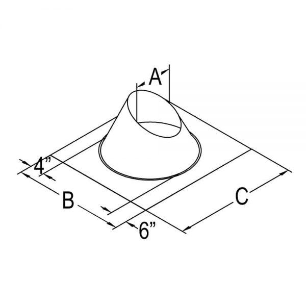 """DuraVent 46DVA-F12 Galvanized 4"""" X 6-5/8"""" Directvent Pro Direct Vent Pipe 2"""