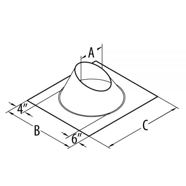"DuraVent 46DVA-F6 Galvanized 4"" Inner Diameter Directvent Pro Direct Vent Pipe 2"